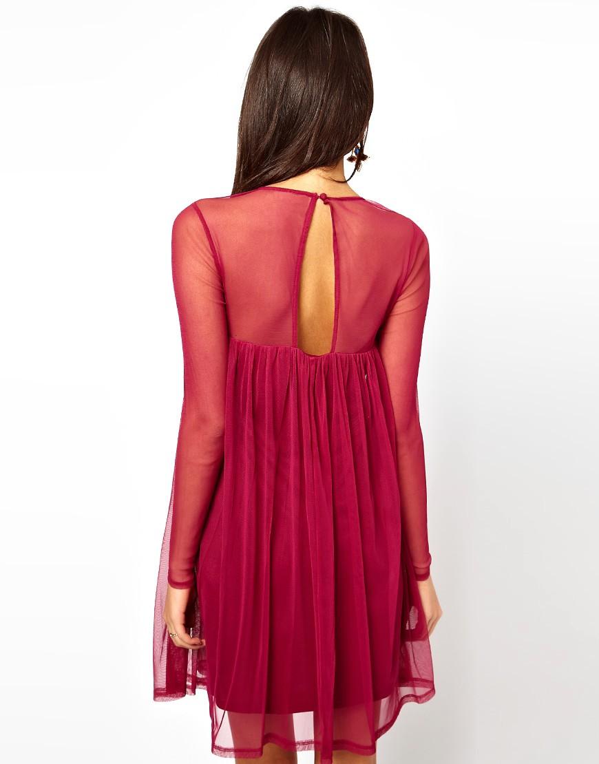 Image 2 ofASOS Swing Dress with Embellished Cross