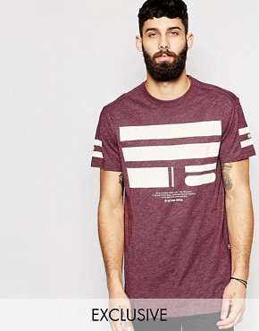 G-Star BeRAW Exclusive to Asos T-Shirt Yur Longline Front Logo Print