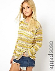 ASOS PETITE Exclusive Slouchy Jumper In Stripe