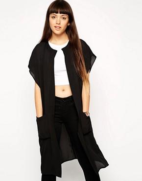 ASOS Patch Pocket Longline Kimono