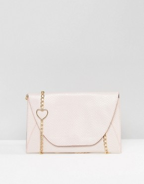 ASOS Shoulder Bag With Heart Chain