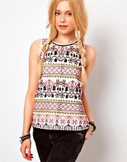 River Island Embroidered Shell Top