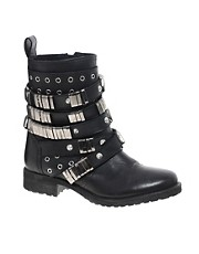 Botas biker de cuero ABERDEEN de ASOS