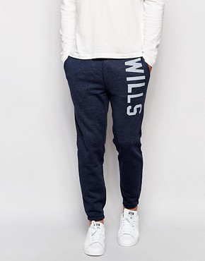 Jack Wills Sweat Pants in Slim Fit Navy