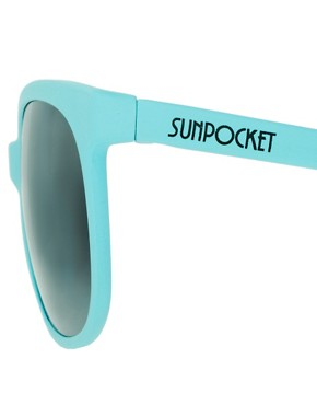Image 4 ofSunpocket Matte Turquoise Sport Foldaway Sunglasses