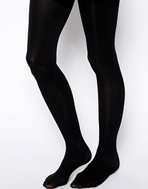 Image 1 ofASOS 80 Denier Black Tights