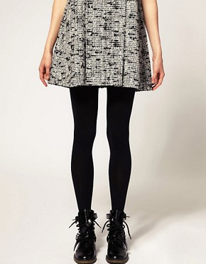 Image 2 ofASOS 80 Denier Black Tights