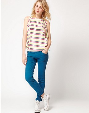 Image 4 ofDr Denim Snap Skinny Jeans