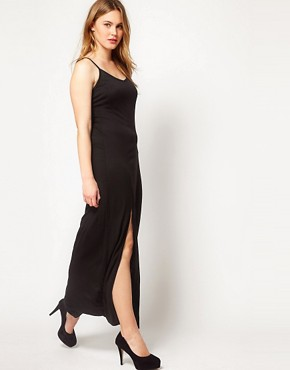 Image 4 ofASOS CURVE Maxi Dress With Thigh Split