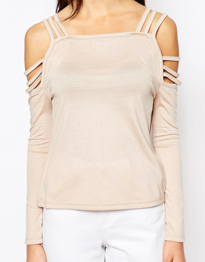 Image 3 of Daisy Street Cold Shoulder Strappy Top