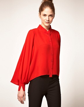 Image 1 ofVero Moda Very Drape Back Blouse