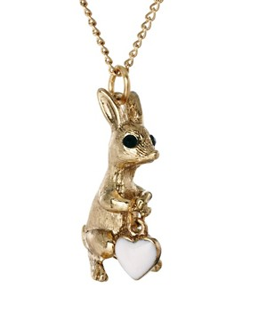 Image 4 ofAnd Mary Bunny Clutching A Heart Necklace