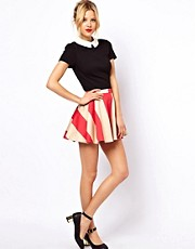 ASOS Skater Skirt in Wide Stripe