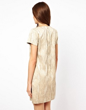 Image 2 ofFrench Connection Metalic T-Shirt Dress