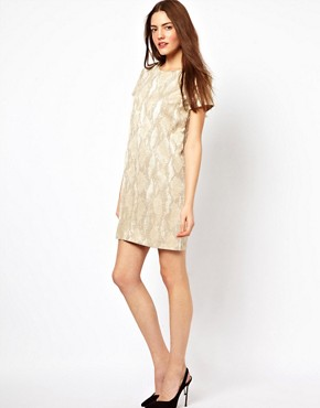 Image 4 ofFrench Connection Metalic T-Shirt Dress