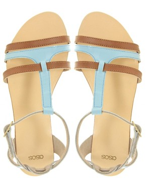 Image 2 ofASOS FLORENCE Leather Flat Sandals