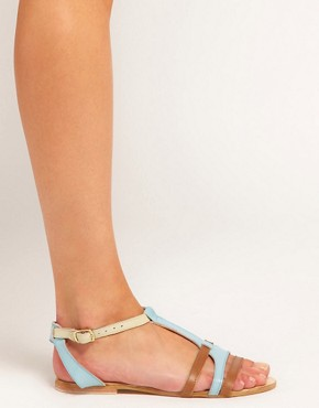 Image 3 ofASOS FLORENCE Leather Flat Sandals