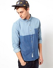 Native Youth Cut &amp; Sew Denim Shirt