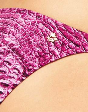 Image 3 ofCia Maritima Croc Print Tie Side Bikini Brief