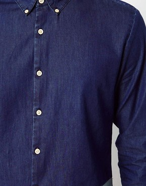 Image 3 ofASOS Denim Shirt With Cut And Sew