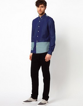 Image 4 ofASOS Denim Shirt With Cut And Sew