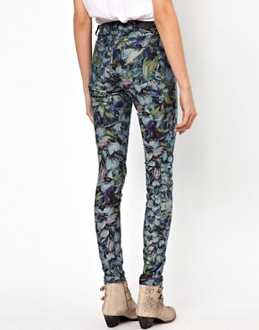 Image 2 of Vero Moda Flower Print High Waisted Denim Jean