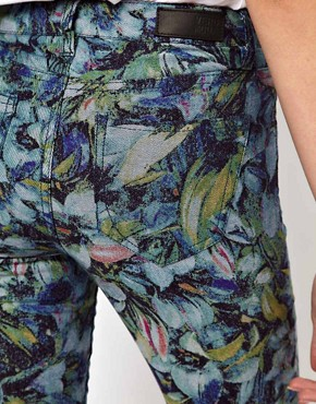 Image 3 ofVero Moda Flower Print High Waisted Denim Jean