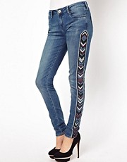 River Island Amelie Skinny With Aztec Panels