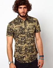 United Colors Of Benetton Shirt With Camo Floral Print