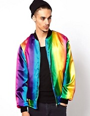 Reclaimed Vintage Rainbow Varsity Jacket