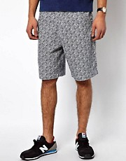 Deus Ex Machina Chino Shorts Kristofferson Print