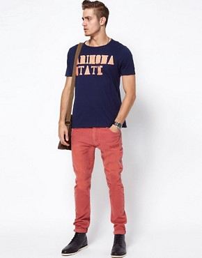 Image 4 ofASOS T-Shirt With Varsity Arizona Print