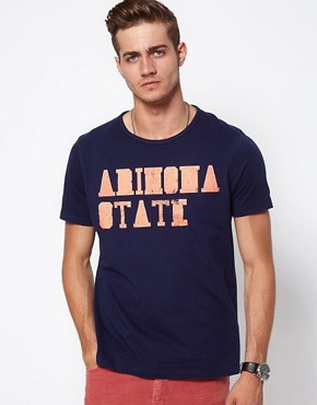 Image 1 ofASOS T-Shirt With Varsity Arizona Print