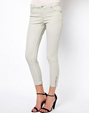 Whistles Zip Hem Ankle Skinny Jeans