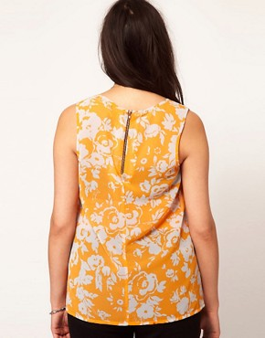 Image 2 ofASOS CURVE Vest In Shadow Print