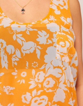 Image 3 ofASOS CURVE Vest In Shadow Print