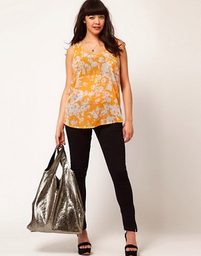 Image 4 ofASOS CURVE Vest In Shadow Print