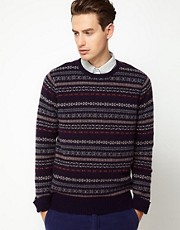 Scotch And Soda Jumper With Fairisle Pattern