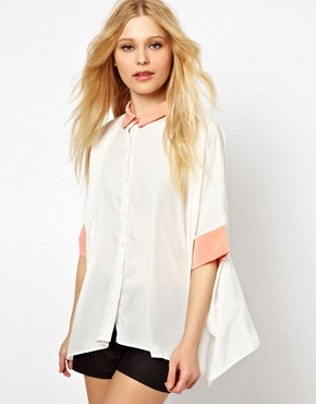 Oh My Love Blouse With Contrast Collar from us.asos.com