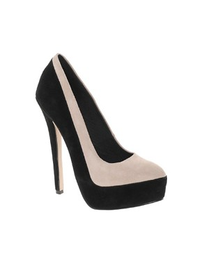Image 1 ofASOS PARADISE Suede Platform Court Shoes