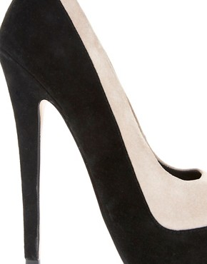 Image 2 ofASOS PARADISE Suede Platform Court Shoes