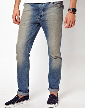Image 1 ofASOS Slim Jean With Authentic Wash
