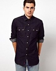 Denim Demon Denim Shirt Dark Rinse Wash