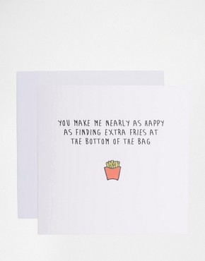 Tarjeta Extra Fries de The Naughty Little Card Shop