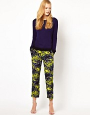 Whistles Tropical Flower Silk Trousers