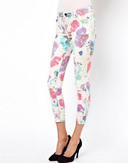 Joe's Jeans Ink Rose Skinny Ankle Jeans