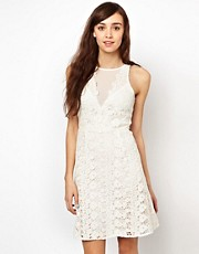 Warehouse Lace Aline Swing Dress