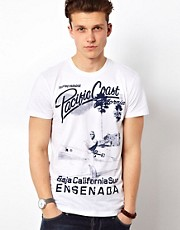 Solid T-Shirt With Ensenada Print