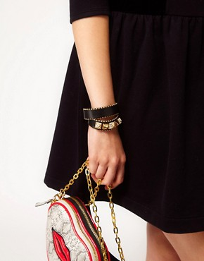 Image 3 ofJuicy Couture Skinny Leather Wrap Bracelet