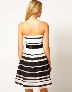 Image 2 ofCoast Stripe Jackie Bandeau Dress